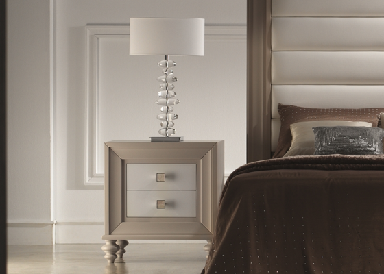 Bedside tables lacquered. Mod. GA9211NC