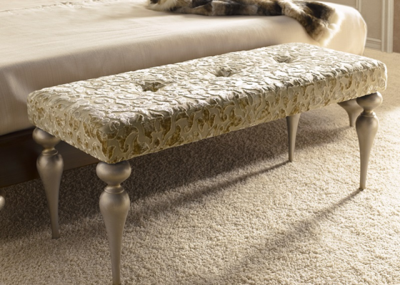 Upholstered bench. Mod. PA9422