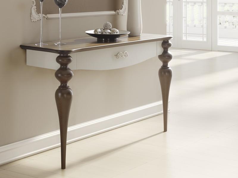 console d 39 entr e avec 2 pieds et 1 tiroir pieds et plateau en teinte couleur n 228 fa ades en. Black Bedroom Furniture Sets. Home Design Ideas