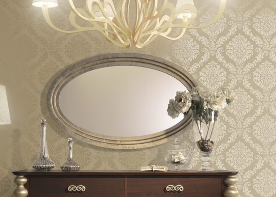 Oval lacquered mirror. Mod PA9395