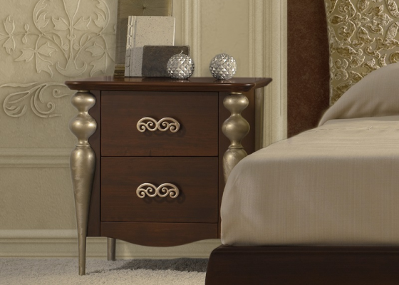 Bedside tables with 2 drawers. Mod. 9400