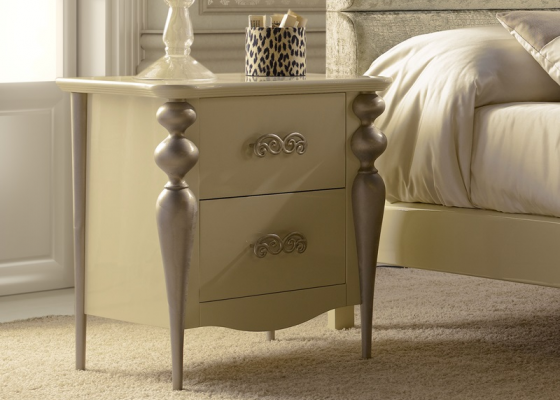 Bedside tables with 2 drawers. Mod.PA9600CR