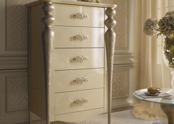 Chiffonnier with 5 drawers .Mod.PA9610