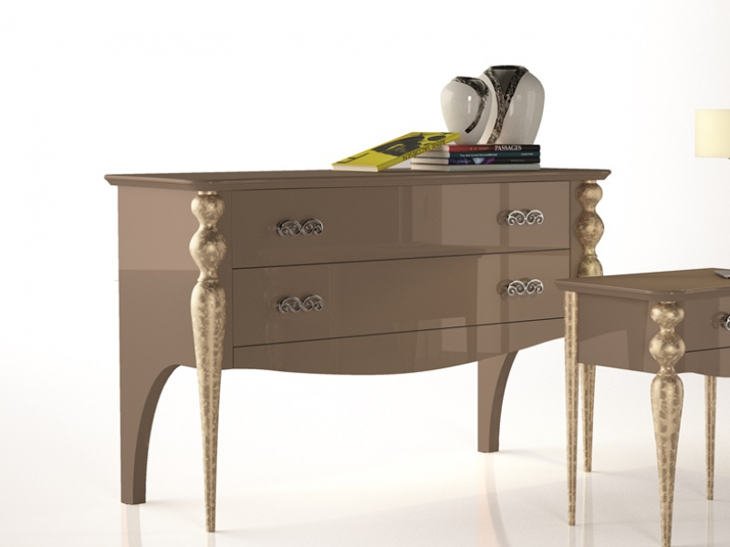 Chest of  2 drawers.Mod.PA9404