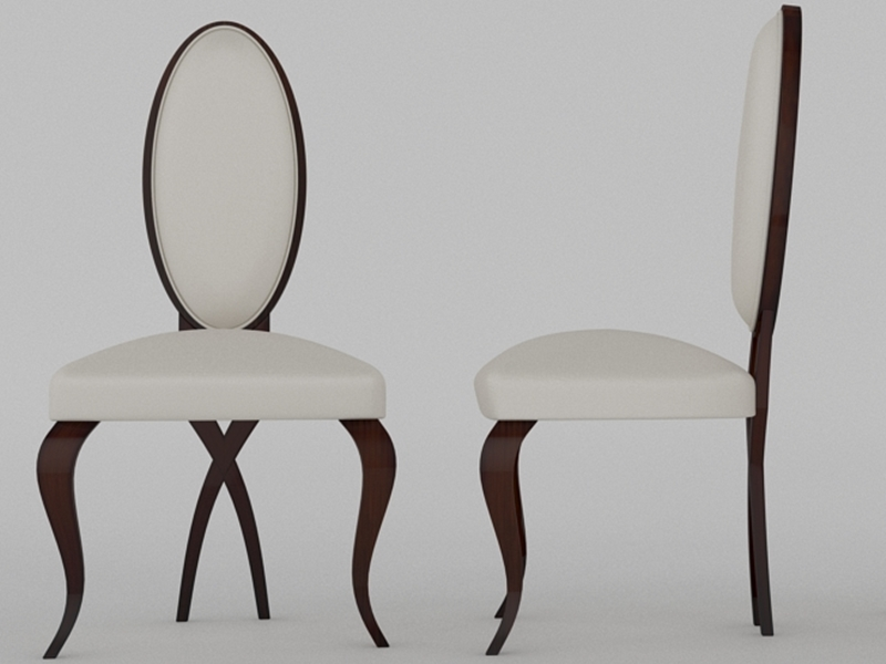 Set of 2 lacquered chairs . Mod: F90