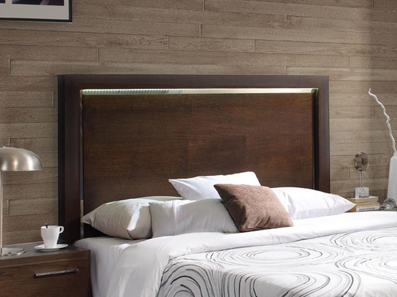 T te de lit en bois avec clairage leds optionnel mod vg 4 - Tete de lit avec eclairage ...