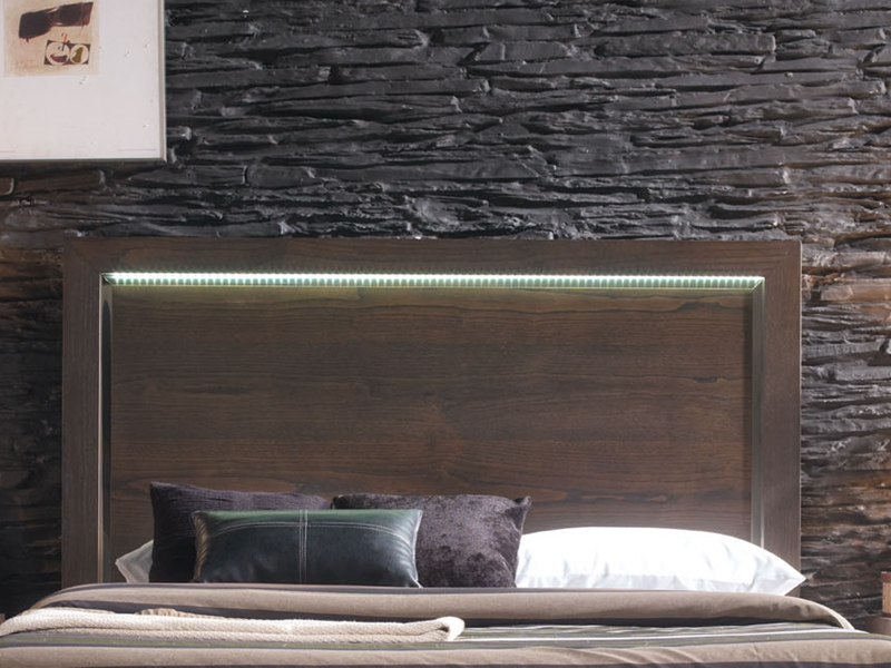 t te de lit en bois avec clairage leds optionnel mod vg 1. Black Bedroom Furniture Sets. Home Design Ideas