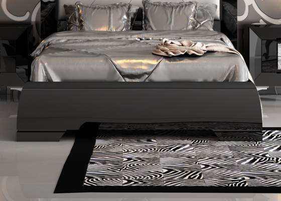 Lacquered bed frame. Mod.LOANA