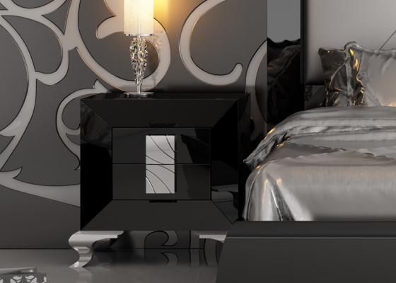 Lacquered bedside tables. Mod. LOANA