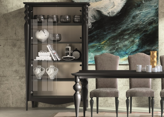 Cabinet with 2 glass doors mod:PA9714
