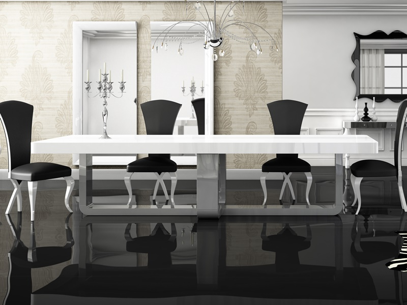 Fix lacquered dining table. Mod. MADISON