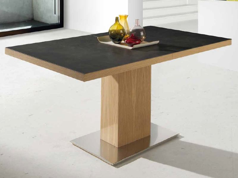 table manger extensible avec plateau en c ramique mod. Black Bedroom Furniture Sets. Home Design Ideas