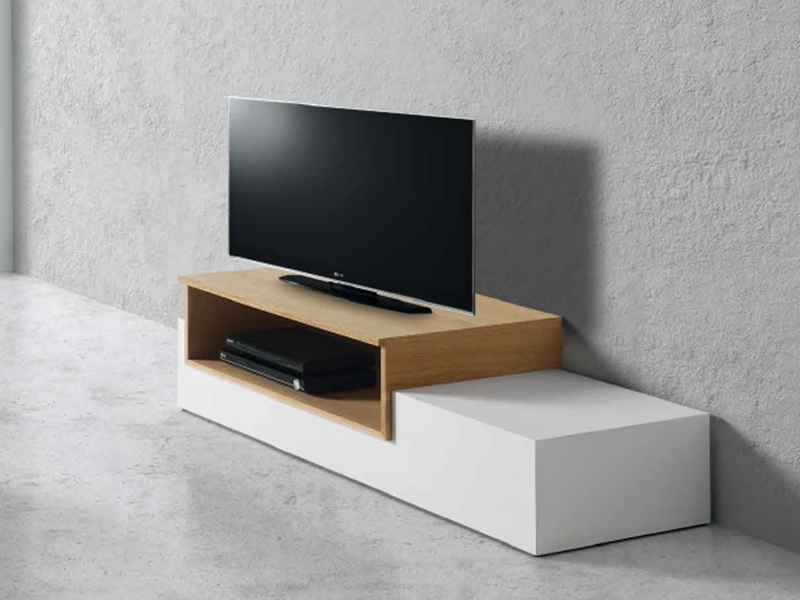 meuble tv avec 1 espace de rangement mod totem tv. Black Bedroom Furniture Sets. Home Design Ideas