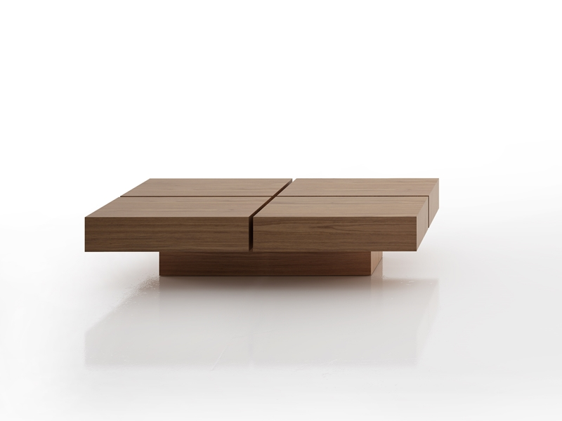 Square or rectangular low table. Mod. CUBE