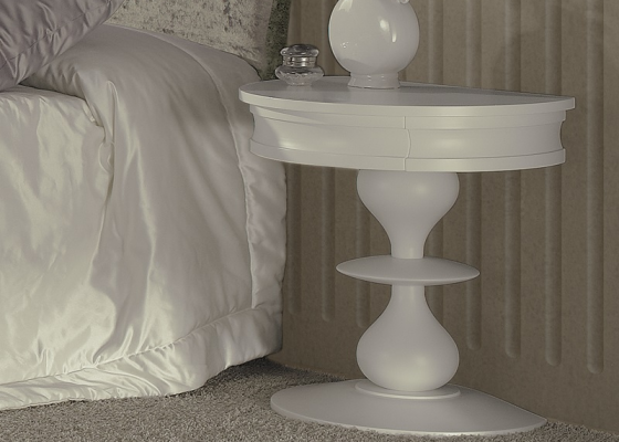 Bedside tables with 1 drawer . Mod. PA9402