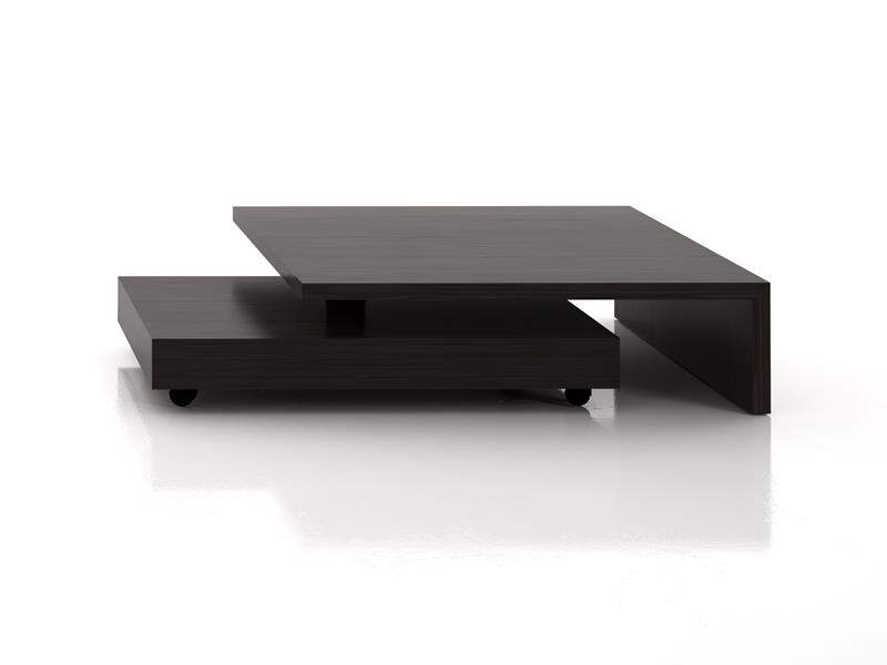 Low coffee table with turned 360� lower element Mod. GIRO
