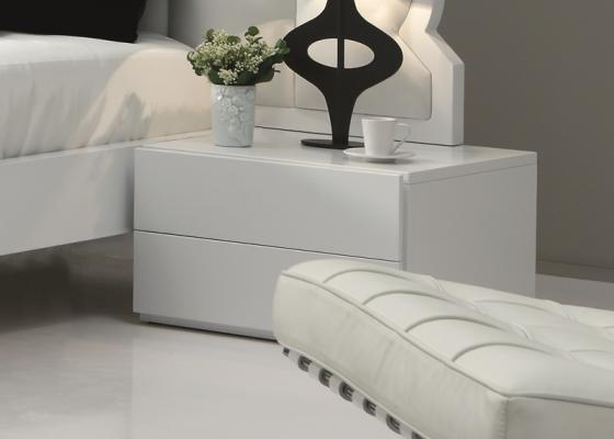 Bedside tables, mod. BELLUCI BIANCO