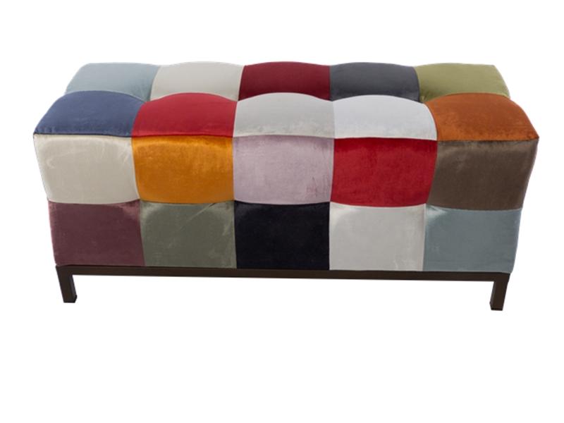 patchwork style upholstered bench mod venezia. Black Bedroom Furniture Sets. Home Design Ideas