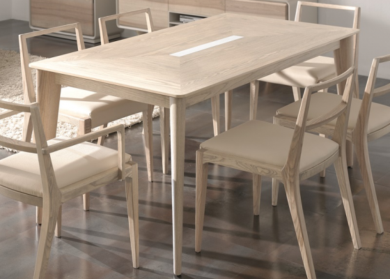 Extensible dining table. Mod. NORDIC 471