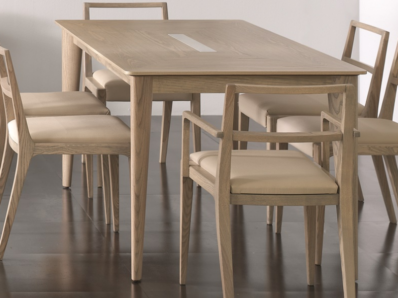 Extensible dining table mod nordic 471 for Dining table extensible