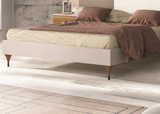 Lacquered bed frame. Mod. NORDIC 508