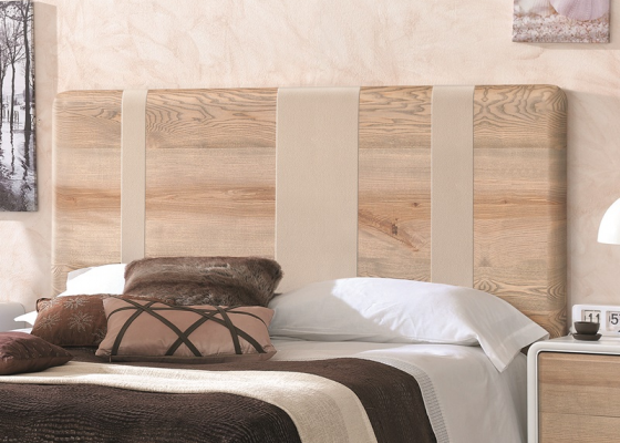 Wood headboard. Mod. NORDIC 168 POLIPIEL