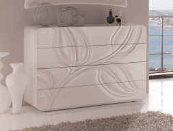Chest of drawers . Mod.  HOJAS 260H