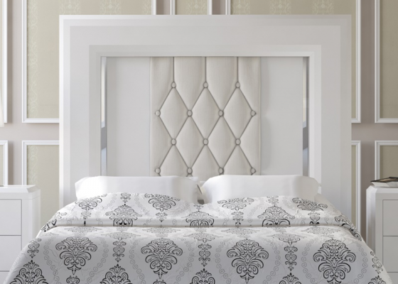 Lacquered and upholstered headboard. Mod. IMPERIO