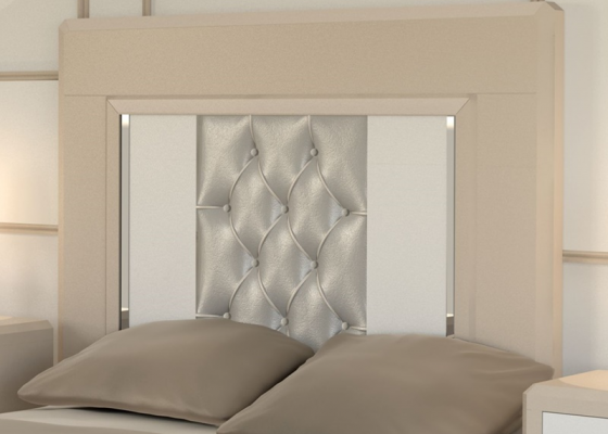 Lacquered and upholstered headboard. Mod. MADEIRA