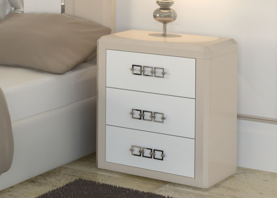 Bedside tables  with 3 drawers. Mod. MADEIRA