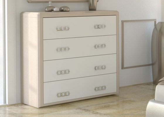 Chest of  4 drawers. MADEIRA
