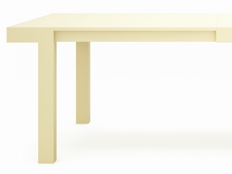 Lacquered extensible dining table mod palermo for Dining table extensible