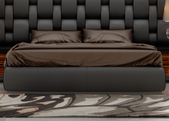 Upholstered bed frame. Mod. CADENAS