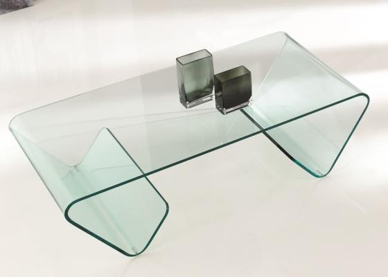 Mesa de centro en cristal, mod: FIONA