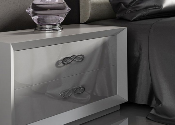Bedside tables with 2 drawers. Mod. AZA