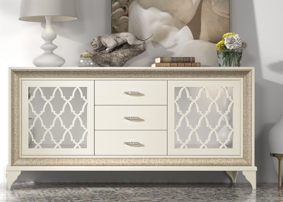 2 doors sideboard with drawers. Mod. OLENA