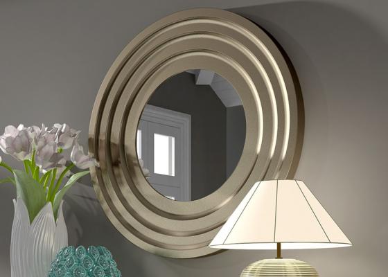 Round mirror . Mod. FLEUR