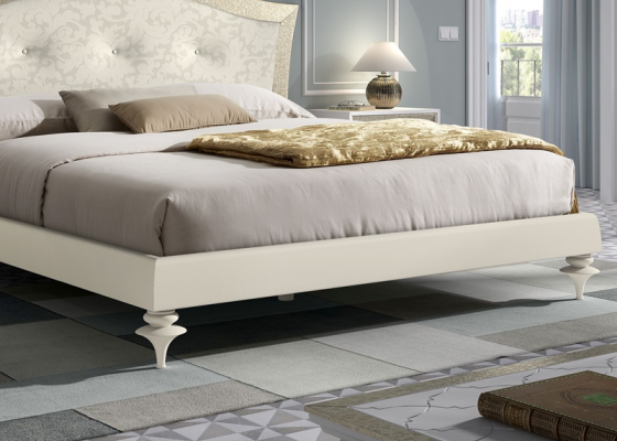 Bed frame for headboard with small legs. Mod. GA9436 L