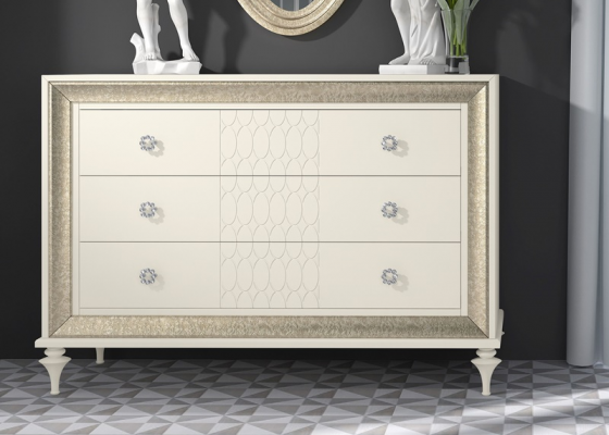 Lacquered chest of 3 drawers . Mod. GA1311G