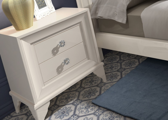 2 bedside tables with 2 drawers. Mod. GA1303