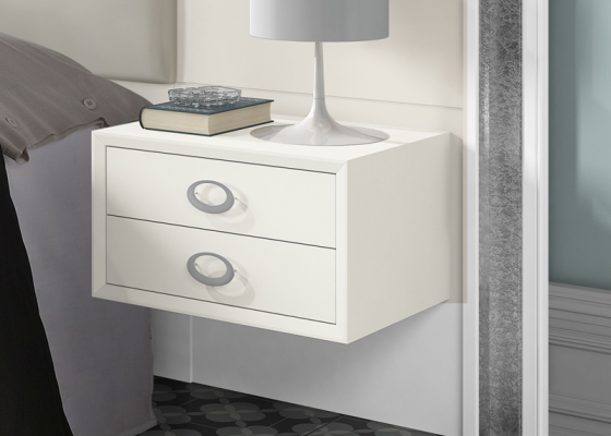 2 modules bedside tables with 2 drawers. Mod. GA1304