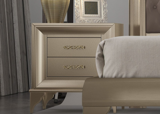 2 bedside tables with 2 drawers . Mod. GA1301