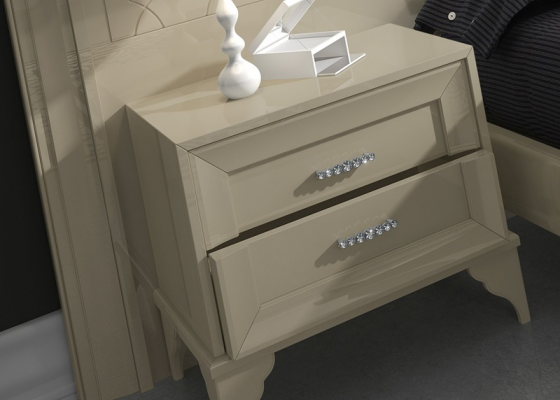 2 bedside tables with 2 drawers . Mod. GA1302