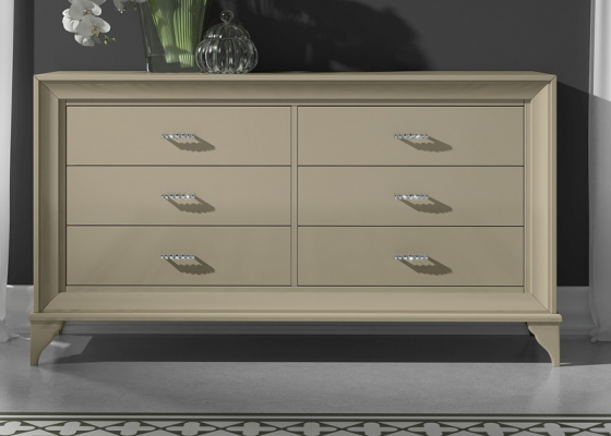 Lacquered chest of 6 drawers. Mod. GA1313
