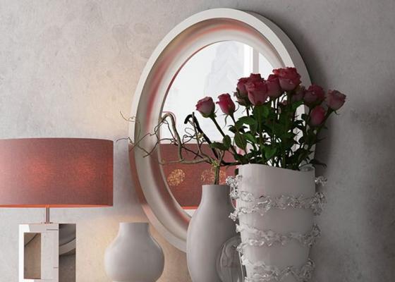 Round lacquered mirror. Mod. DALIA
