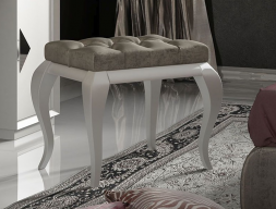 Upholstered  and lacqured bench. Mod. LUCIA