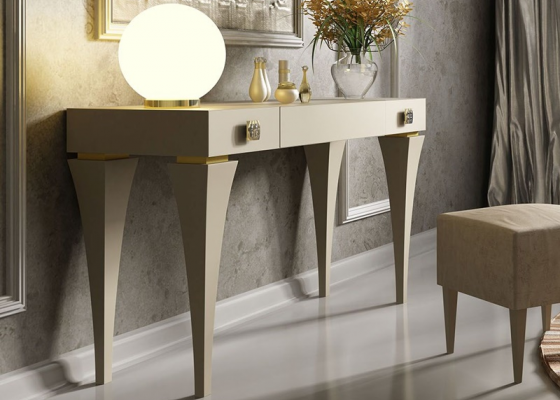 Lacquered vanity table. Mod. HELENNA