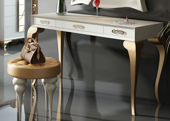 Vanity table with drawers. Mod. GOLD
