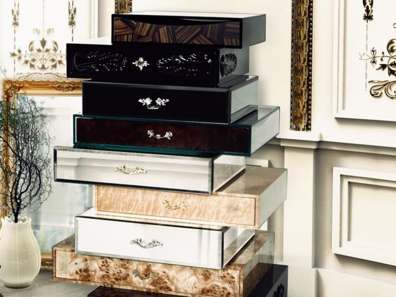 Chiffonnier of 9 drawers. Mod. FRANK