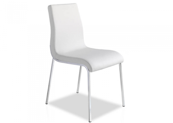Set of 2 upholstered chairs. Mod. EVA